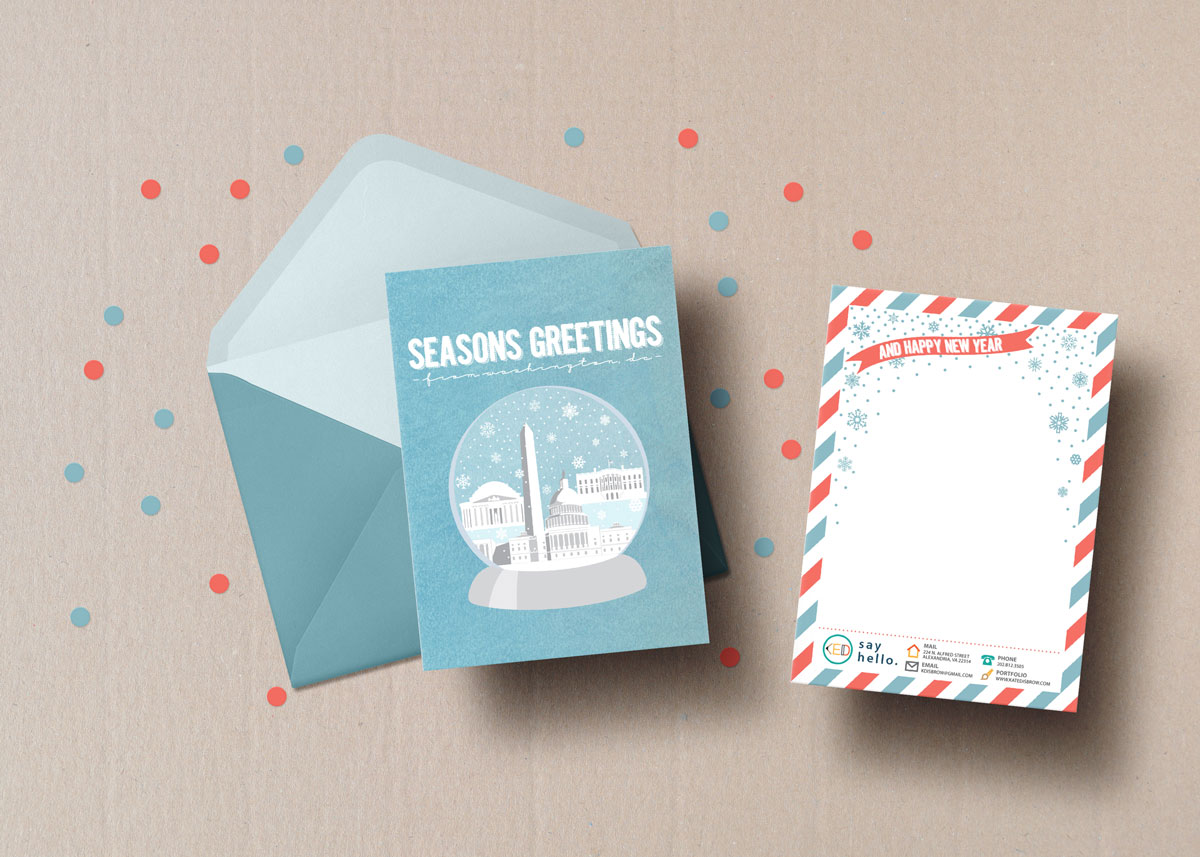 Holiday Cards Kate Disbrow Creative Communications Design